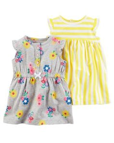Carter's : Carter's 2-Pack Jersey Dresses