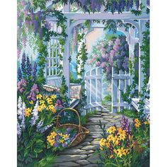 Dimensions 16×20 Paint By Number Kit – Garden Gate « Blast Groceries