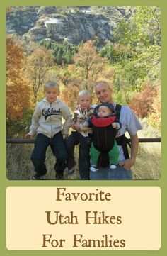 "Best Scenic Views: Live in Utah? Love to hike with the fam? Here's a list of ""Favorite Utah Hikes for Families"" in Northern Utah."