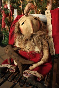 St Nick Primitive Santa Doll EPATTERN  OPP by YankeeRidgePrimitive, $8.50