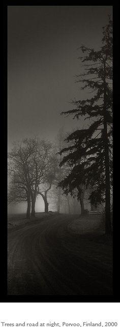 Kristoffer Albrecht, Trees and Road at Night, Porvoo, Finland, 2000