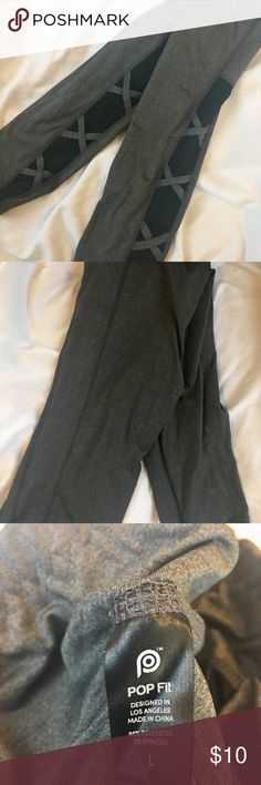 Popflex Penelope Leggings Hi! I like to be 100% honest with descriptions. These are popflex leggings that I got for free (just had to pay s&h) and thought there were a little to extra. These are super cute and well made, but not squat or sweat proof. These are great for low activity exercises (yoga) or just a little boost to your outfit. They have mesh on the side. Pants Leggings