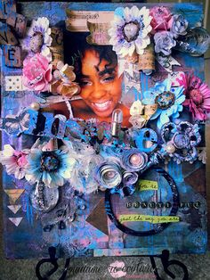 Layout - Designer: Rochelle Wilson Canvas Board, Altered Art, Embellishments, Mixed Media, Artist, Projects, Painting, Inspiration, Layouts