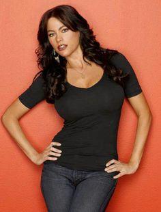 Sofia Vergara-- dark hair, medium length