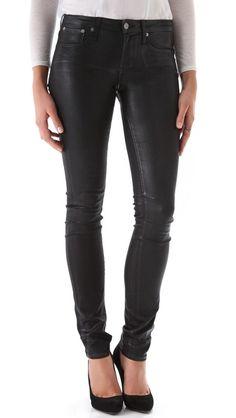 HELMUT Helmut Lang High Gloss Skinny Jeans