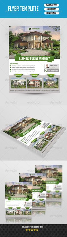 #Real #Estate #Flyer Template-V118 - #Corporate #Flyers Download here: https://graphicriver.net/item/real-estate-flyer-templatev118/8646786?ref=alena994