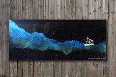 Somewhere Beyond the Sea - Original Acrylic Galaxy Painting on Canvas