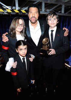 Lionel Ritchie + Michael Jackson's kids @ the Grammys