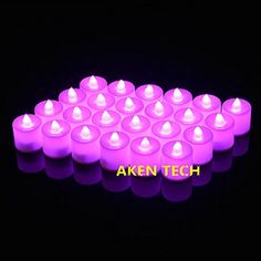 Creative LED Candle Light Electric LED Tea Lights Candles for Romantic Courtship Confession Marry Ceremony Party and Home Decor Batterypowered Flameless LED Tealight Candles Pack of 24 Purple ** This is an Amazon Affiliate link. Check this awesome product by going to the link at the image.