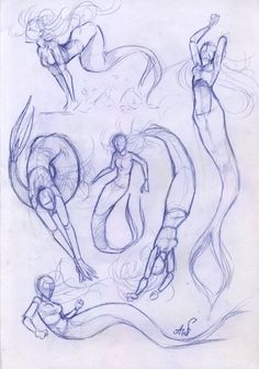 Sketches_mermaid by AshiPhoenix.deviantart.com on @DeviantArt