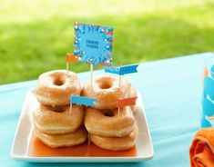 Pool Party Fun Food - Doughnut Inner Tubes! | Kim Byers, TheCelebrationShoppe.com  #summer #funfood #poolparty
