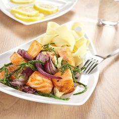 Roergebakken zalm met zeekraal en knoflook - recept - okoko recepten