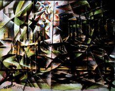'Speeding Automobile' by Giacomo Balla, 1912 Oil on wood MoMa Gino Severini, Umberto Boccioni, Paul Signac, Giacomo Balla, Italian Futurism, Futurism Art, Mediums Of Art, Italian Painters, Moma