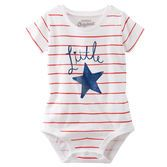 Your little star will love this striped bodysuit that matches perfectly with her favorite shorts or her first denim!
