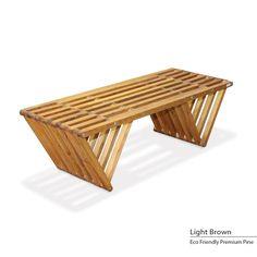 GloDea Eco-friendly Bench (Light Brown), Patio Furniture (Pine)
