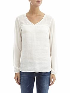 CHIFFON LONG SLEEVED SHIRT - Vila