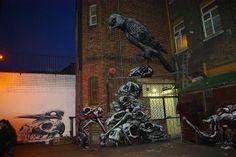 Urban artist ROA!  Love his work.