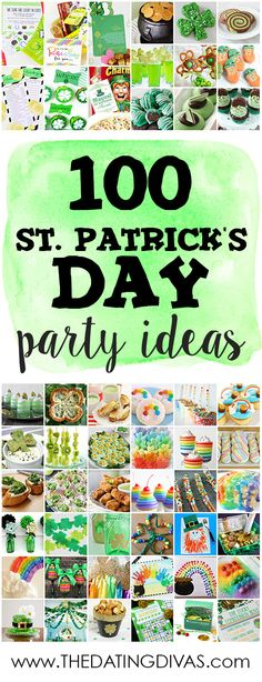 So many great St. Patrick's Day Party ideas! www.TheDatingDivas.com