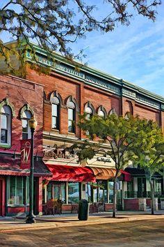 Wheaton Front Street Stores by Christopher Arndt Wheaton Illinois, Wheaton College, Artisan Works, Atlantis Bahamas, Small Town America, City Scene, Chicago Illinois, Stargazing, Tents