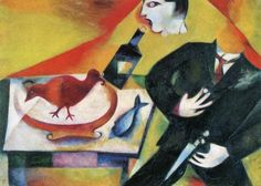 The Drunkard, 1912, Marc Chagall Size: 85x115 cm Medium: oil on canvas