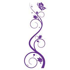 Adesivo Parede Arabesco Flores Borboleta Allodi Adesivos Pictures