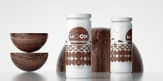MOON is the organic product from coconut harvested in Sri Lanka.Full moon = whole coconut = circle. First or last quarter moon = half coconut = half circle. Packaging Design Inspiration, Coffee Bottle, Coconut Oil, Harvest, Mango, Moon, Graphic Design, Creative Package, Package Design