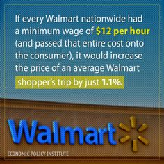 We NEED to begin to care about the workers and the jobs more than getting things $.02 cheaper. IMHO.  I mean what is 1.1% anyway.  And don't blame the unions here. Walmart employees are not allowed to unionize. ~ Erin We Leave No One Behind #walmart #minimumwage #vote #bethechange #election2014 #waronpoor