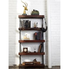 I have an old melamine and chrome shelf from Target that I intend to morph into something like this Industrial shelf