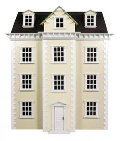 Brand-New-In-Box-Cream-Georgian-Style-Wooden-Dolls-House-Kit