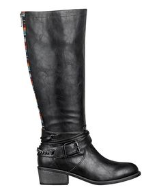 Another great find on #zulily! Black Wide-Calf Robbin Boot by Pink & Pepper #zulilyfinds