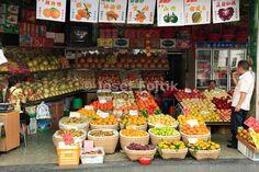 Greengrocer shop, Sichuan, China