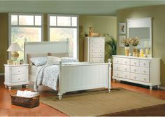 Pottery White Eastern King Panel Bed