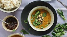 Vegan red lentil, ginger and coconut curry
