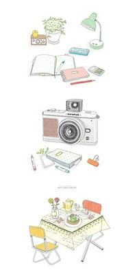 around the house illustrations