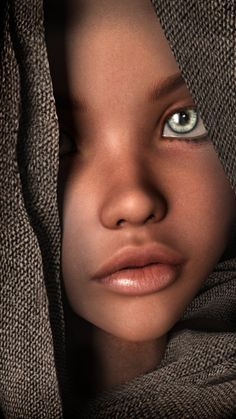 The Girl With the Green Eyes by Conlaodh on DeviantArt Most Beautiful Eyes, Stunning Eyes, Black Girl Art, Black Women Art, Pretty Eyes, Cool Eyes, Beautiful Children, Beautiful Babies, Photo Portrait