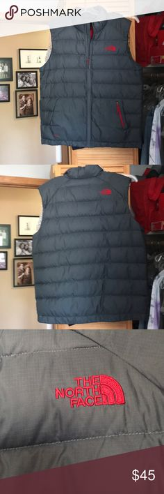 North Face Men's Vest Men's red blaze vest   Size XL. Like new. Grey and red. The North Face Jackets & Coats Vests