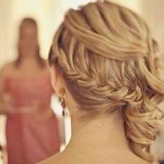Hair for Janna's wedding