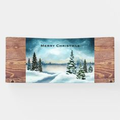#promo Scenic Winter Wonderland Watercolor Painting Banner #christmas #scene #watercolor #painting #pine #Banner #affiliatelink #merrychristmassigns #merrychristmas #holidaysigns #christmasdecor Merry Christmas Sign, Holiday Signs, Outdoor Banners, Party Banners, Outdoor Events, Winter Wonderland, Fall Decor, Watercolor Paintings