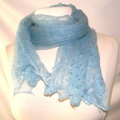 Vintage wool scarf lace pattern Made in England by FeliceSereno, $25.00