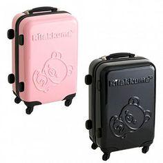【限量】Rilakkuma拉拉熊限定硬殼登機箱行李箱(24吋)。兩色可選粉紅色