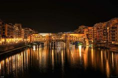 Ponte Vechio by night, Florence, Italy