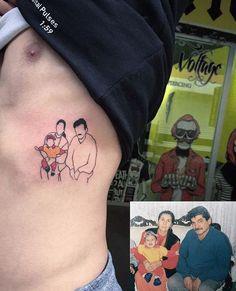 Tattoo ideas #tattoo #family #minimal #basic #idea #colour