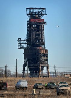 Photo retrospective of Bethlehem Steel, Sparrows Point Baltimore, Abandoned Buildings, Abandoned Places, Abandoned Homes, Bethlehem Steel, Abandoned Factory, Industrial Machinery, Steel Mill, Watercolor Architecture