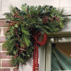 Love the corner wreath! Holiday Decor