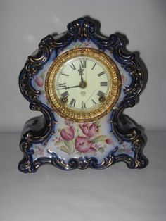 Antique Ansonia Clock Ceramic Porcelain