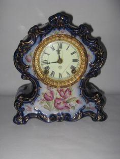 Antique Ansonia Clock Ceramic Porcelain