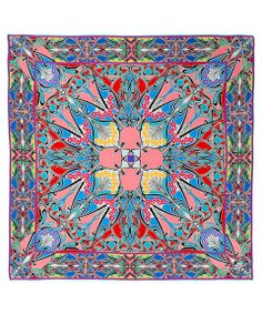 Red Liberty London New Ianthe Silk Twill Scarf | Silk Scarves | Liberty.co.uk