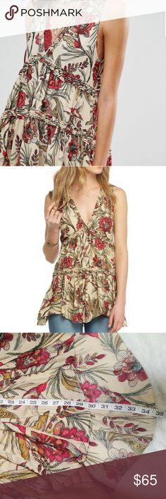 FP Purple Haze tunic I love this colorful tunic! Absolutely gorgeous v-neck. Asymetrical hem and high low (length measurements shown). Bust is 19in across. Free People Tops Tunics