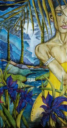 """I like how I feel"" Acrylic on canvas 85 x 46 cm Autor José B.L."