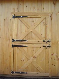 Learn to Build a Shed on a Weekend - Our plans include complete step-by-step details. If you are a first time builder trying to figure out how to build a shed, you are in the right place! Diy Barn Door, Sliding Barn Door Hardware, Diy Door, Sliding Doors, Exterior Barn Doors, Diy Exterior Dutch Door, Shed Doors, Barns Sheds, Building A Shed